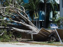 Hurricane Sarasota Florida Hits Air Conditioner